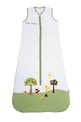 Saco de repetición Saco de dormir de 0.5tog–Animales del bosque–Disponible en varias tallas: de 0a 6años multicolor Talla:3-6 Jahre / 130cm