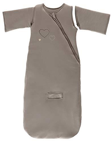 P'tit Basile – Saco de dormir de invierno para nacimiento de 0 a 6 meses, 70 cm, mangas extraíbles, funda de jersey 100 % algodón orgánico – TOG 3 marrón chocolate