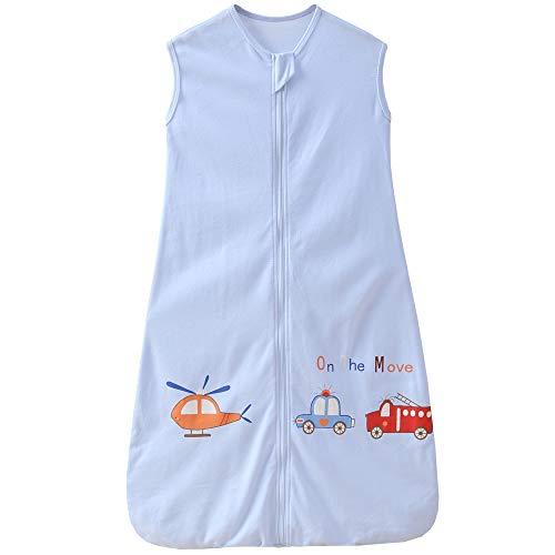 Saco de dormir de verano para bebé y niña, 0,5 tog, 12-24 meses, diseño de avión, color azul