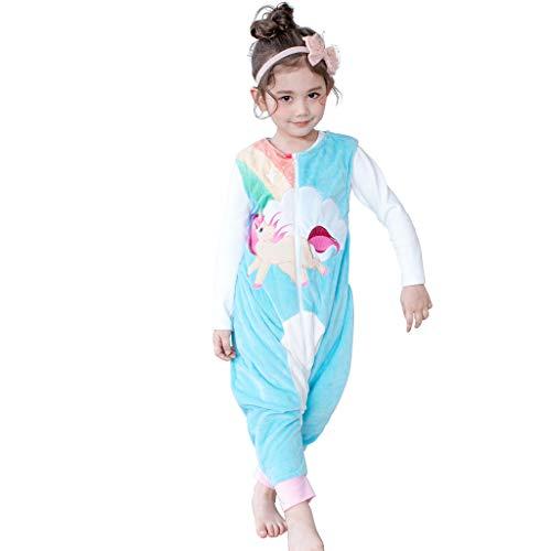 Saco de Dormir con Pies para Niños 1.5 Tog Bebé Bolsa Dormida Cremallera Frontal sin Mangas Peleles para Dormir, 3-5 Años