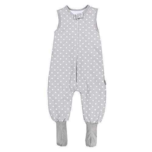TupTam Saco de Dormir con Pies de Invierno para Bebés , Gris / Estrellas Blanco, 92-98