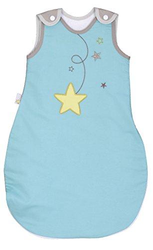 P'tit Basile – Saco de dormir de verano para bebé – 70 cm – 0-6 meses – Color turquesa, algodón orgánico – Forro de esponja absorbente – Suave y ligero – Turbuleta TOG 2 – Práctico y cómodo