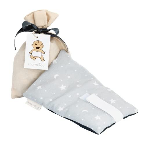 Cinturón Anticólicos Bebé Ajustable - Fajita de Saco Térmico de Semillas Para Aliviar el Dolor de Cólicos. 21x12 cm - Saco Cinturón Cólicos Bebé con Funda Lavable (Thermikoa)