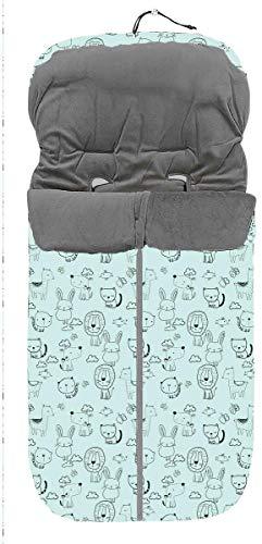 Danielstore- Saco Silla Paseo Universal Polar OFERTA (Animales verde)