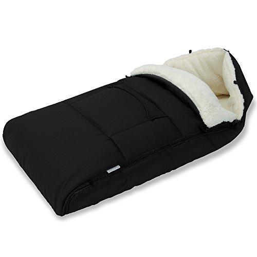 Deuba Saco de dormir para bebé Multiuso para Cochecito Silla de coche o Asiento de bebés Negro 93x56cm 100% Poliéster