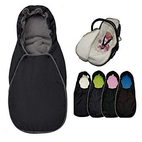 Sweet Baby Coony - Saco de dormir para bebé 2 en 1 con cremallera en todo el año, apto para el sistema de cinturón de 3 y 5 puntos negro Negro/grafito Talla:Universalgröße für den Baby-Autositz
