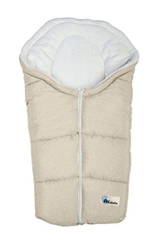Altabebe AL2009P-08 Alpin - Saco de dormir para portabebés, color beige y blanco
