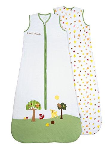 Slumbersac - Saco de dormir para bebé (0,5 tog), diseño de animales Forest Friends – Diferentes tamaños: de 0 a 6 años multicolor multicolor Talla:6-18 meses
