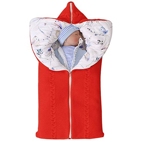 ROSEBRAR multifuncional ajustable recién nacido bebé swaddle manta cochecito envoltura colchoneta de dormir grueso y cálido saco de dormir saco de dormir para 0-6m