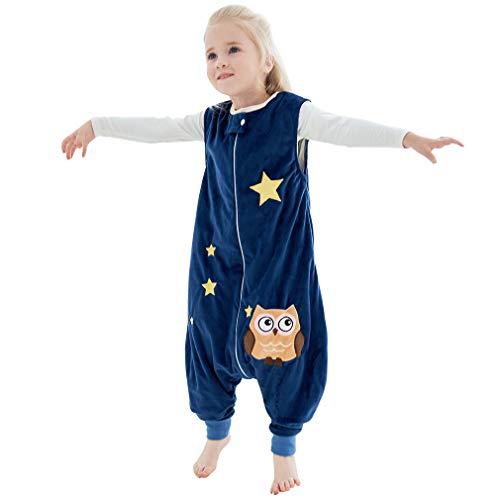 MICHLEY Disfraz Animal Bebe Saco Dormir niño y niñapijama Ropa de Bebe Ideal para Entretiempo e Invierno,Azul 4-5 Jahre