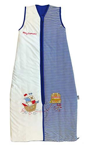 Saco de dormir Slumbersac (1 tog), diseño de piratas, para niños de 12 meses a 10 años blanco Blue/White Talla:12-36 meses