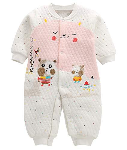 Happy Cherry - Bolsa Dormida de Algodón para Bebés para Invierno Mono de Estampados Saco de Dormir con Piernas Pijamas Dormida para Bebé de 6-9 Meses
