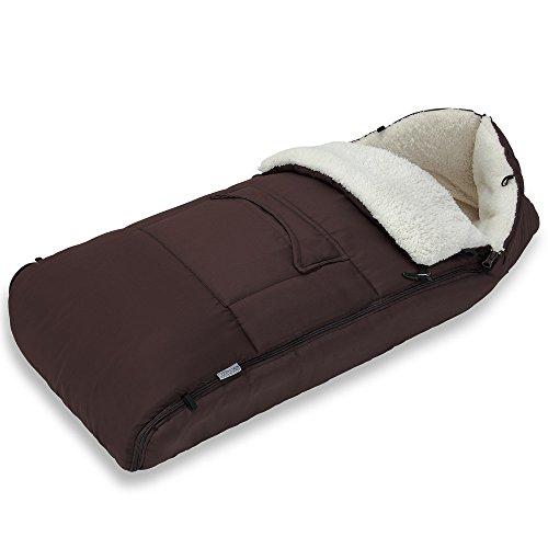 Deuba Saco de dormir para bebé Multiuso para Cochecito Silla de coche o Asiento de bebés Marrón 93x56cm 100% Poliéster