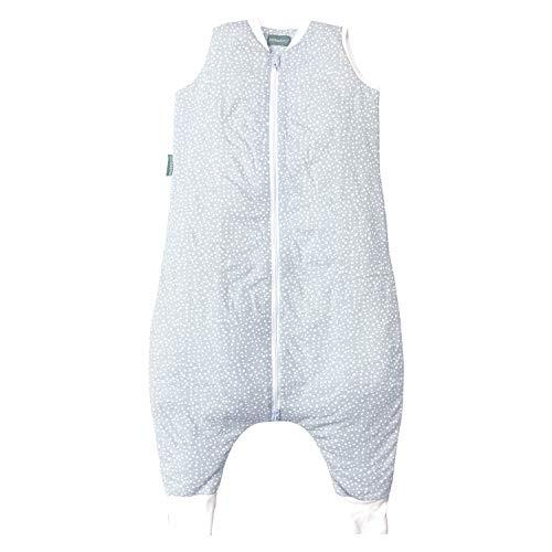 molis&co. Saco de Dormir con pies. 2.5 TOG. Talla 4 años. Ideal para Entretiempo e Invierno. Suave y cálido. Grey Print. 100% algodón orgánico (GOTS).