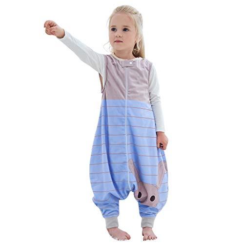 MICHLEY Disfraz Animal Bebe Saco Dormir niño y niñapijama Ropa de Bebe Ideal para Entretiempo e Invierno,marrón 4-5 Jahre