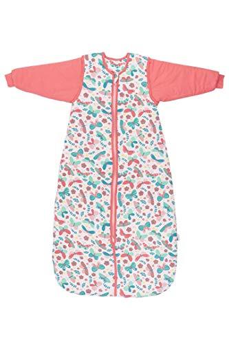 Schlummersack Saco de dormir para bebé (para todo el año, con mangas extraíbles, 2,5 tog, 110 cm, para niños de 12 a 36 meses), diseño de mariposas