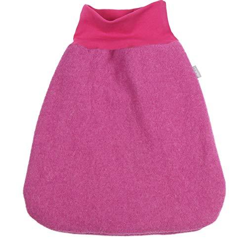 Lilakind' - Saco de dormir para bebé, diseño de estrellas, color fucsia Forrado en color fucsia. 70 cm lang