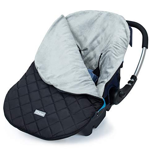 Orzbow Saco Capazo Bebe Universal,Mantas para Bebes Recien Nacidos,Saco de Dormir Invierno para Niñas o Niños de 0 a 12 Meses (negro)