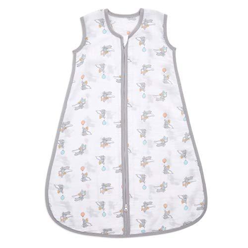 Aden Essential Saco de Dormir 1.0 TOG (18-36 Meses) 100% Muselina de algodón Dumbo Nuevas Alturas