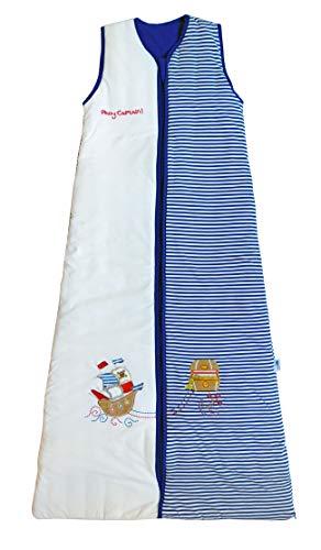 Saco de dormir Slumbersac (1 tog), diseño de piratas, para niños de 12 meses a 10 años Blanco Blue/white 6-10 Años