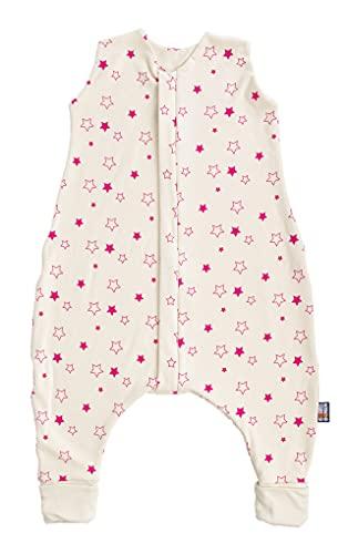 Saco de dormir para bebé con uso de primavera a otoño sin aislamiento (estrellas fucsia, 90 cm)