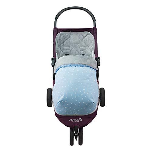 JANABEBE Saco para Baby Jogger City Mini Joolz (BLUE SPARKLES, POLAR)