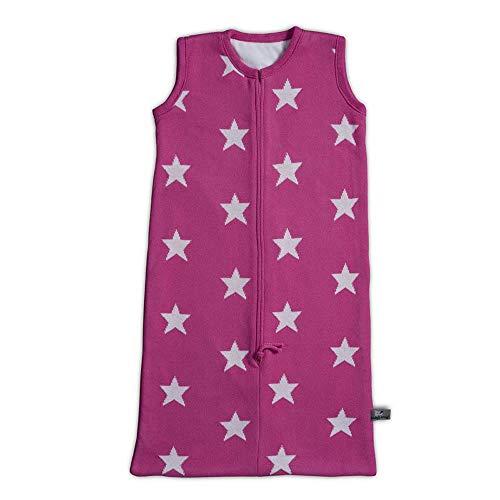 Baby 's Only Saco de dormir estrellas, punto, 90cm rosa fucsia/blanco