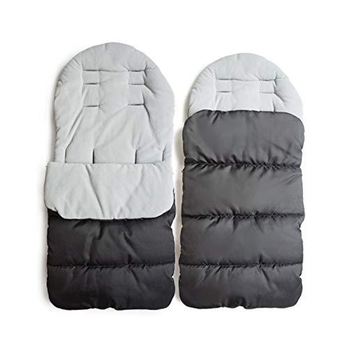 MHOYI Saco de dormir para bebé forro de algodón, para asiento de cochecito de bebé,cómodo y universal,cálido,para invierno,resistente al viento,al calor,carrito de bebé,cojines de algodón