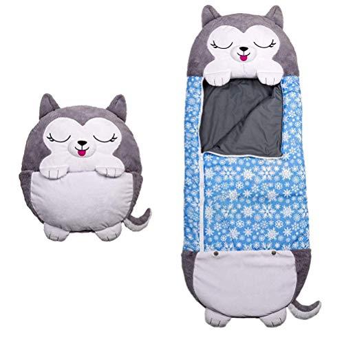 Junma Happy Kids Nappers - Almohada para Jugar, Saco de Dormir para bebé, Divertido Saco de Dormir Plegable, Suave, para niños, Animal, (tamaño: 50 * 135)-Blue