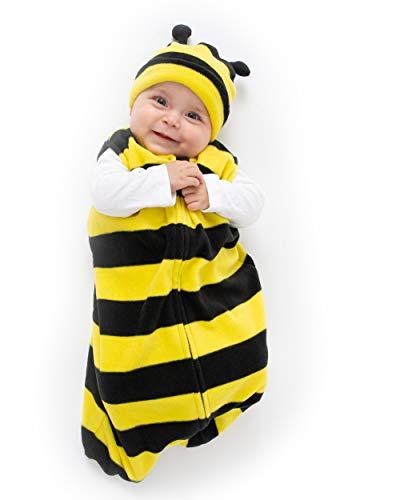 Cuddle Club Sacos de Dormir de Forro Polar para bebé – Pijama bebé Tipo Saco de Dormir - Pijama Manta bebé para recién Nacido-BeeWBS