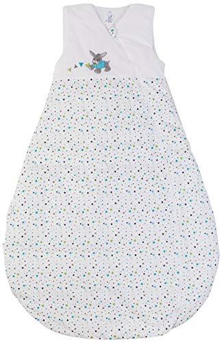 Sterntaler Saco de Dormir de bebé, Uso Durante Todo el año, Termorregulación, con Cremallera, Tamaño: 110 cm, Erik, Blanco/Azul Turquesa/Verde