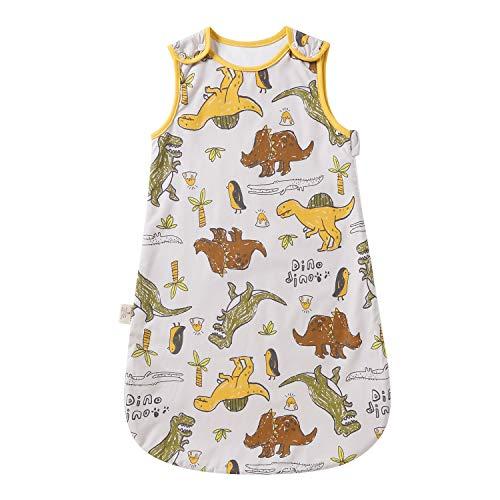 Saco de dormir para bebé de verano, primavera, Animal dibujos animados, manta lavable 1,0 tog, saco de dormir sin mangas (0-6 meses, pequeño dinosaurio)